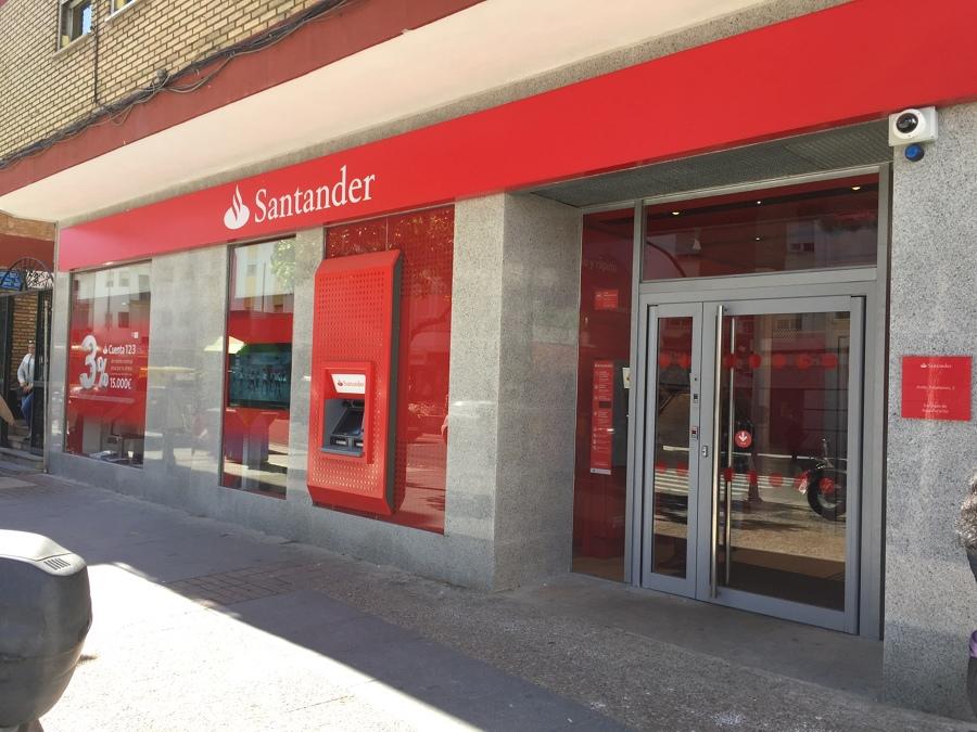 foto proyecto de reforma oficina bancaria banco santander