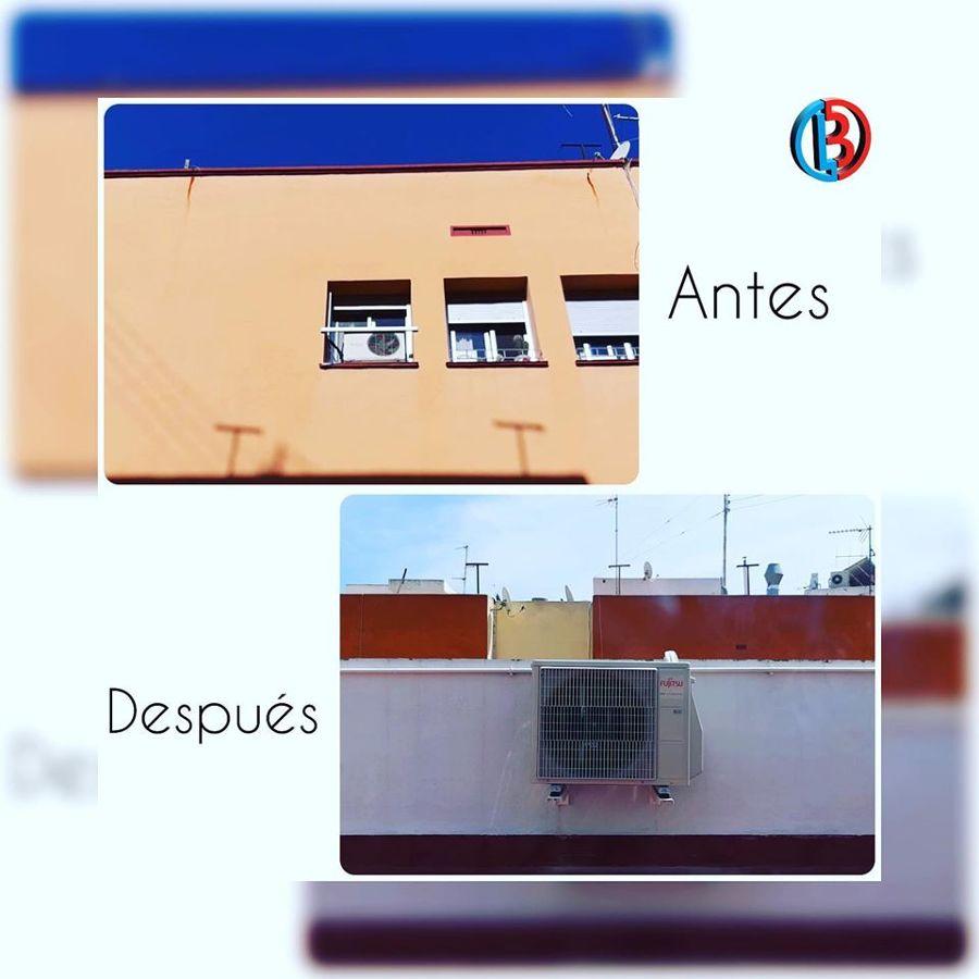 Antes y despues de una instalacion de aire acondicionado