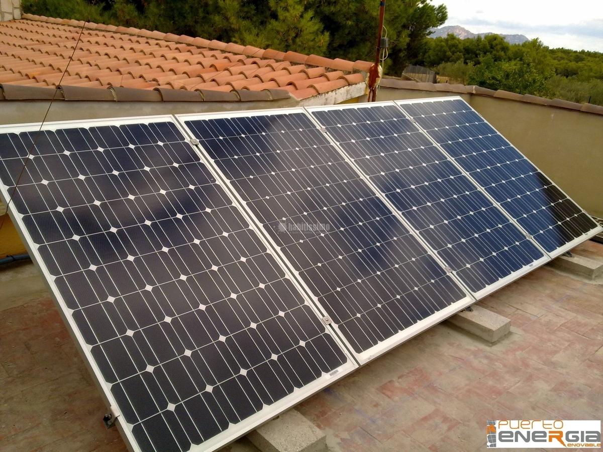 Foto placas solares energ a solar energ a e lica de - Energia solar tenerife ...