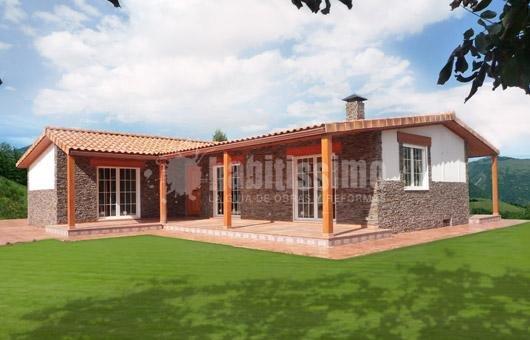 Foto construcci n casas constructores industrial de - Casas prefabricadas en navarra ...
