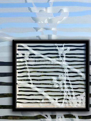 Vidrio aislante decorado