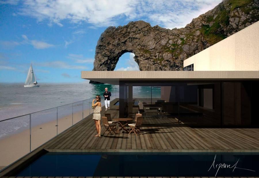 Foto villa en la playa de ac4 estudio arquitectura y for Arquitectura y diseno las palmas