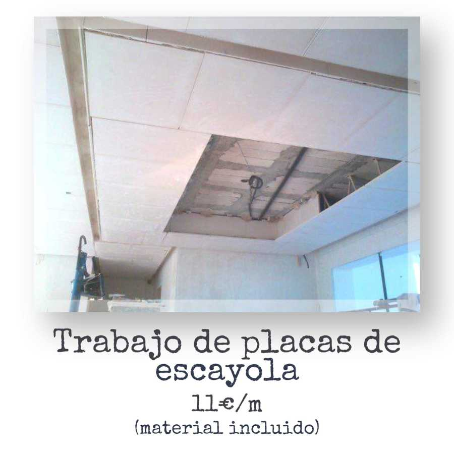 Colocacion de techos de escayolas