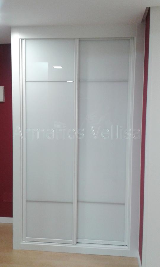 Foto armario cristal blanco separado 3 5 partes con - Armarios de cristal ...