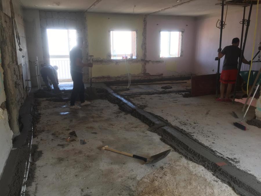 plaston en reforma de edificio