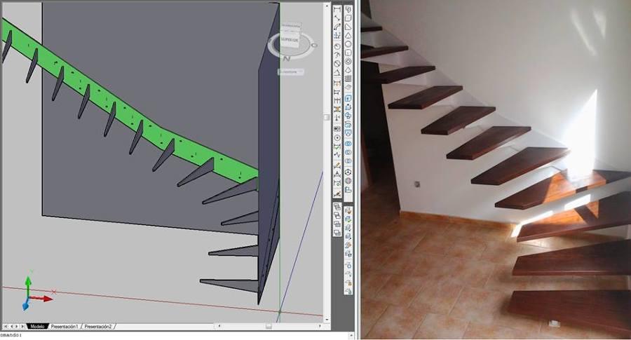 Diseño escalera compensada