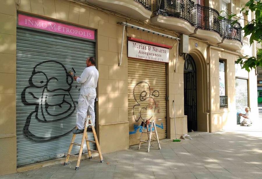 Limpieza y cubrimiento de graffitis