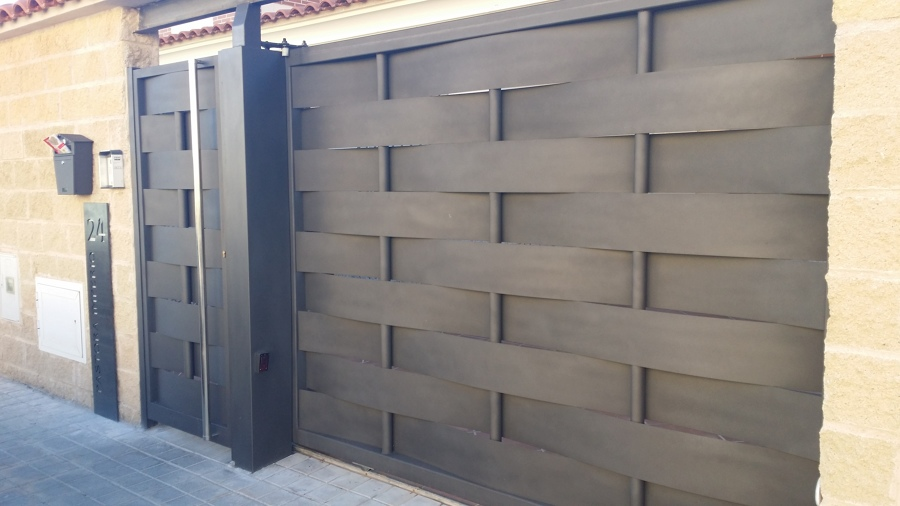 Puertas Correderas Metalicas Precios Finest Perfect Confeccion De - Puerta-corredera-metalica