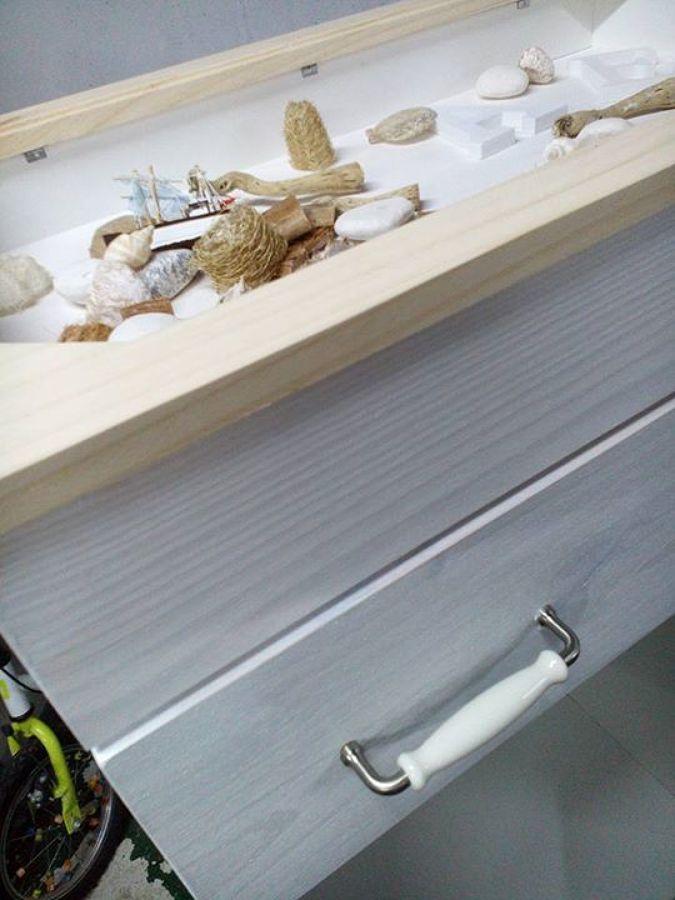 Construcción a medida de mueble auxiliar para baño
