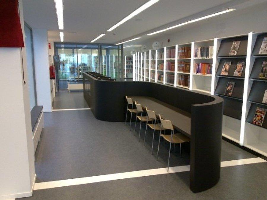 Zona lectura Biblioteca Rosales