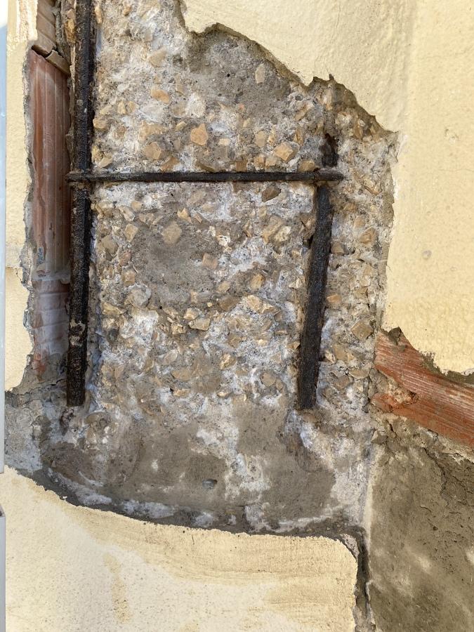 Saneamiento dé pilares de carga