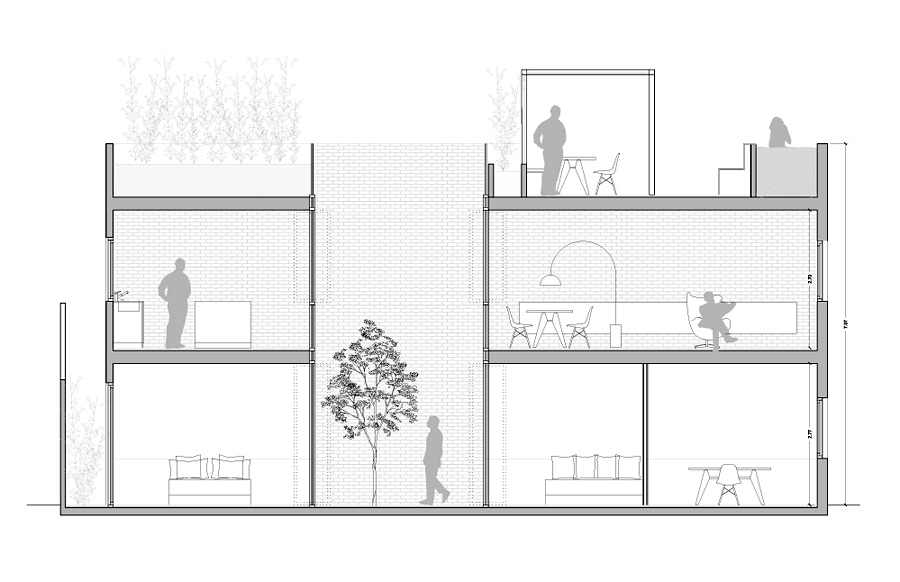 2012_Anteproyecto para reforma de interior de vivienda en el ensanche. Barcelona.