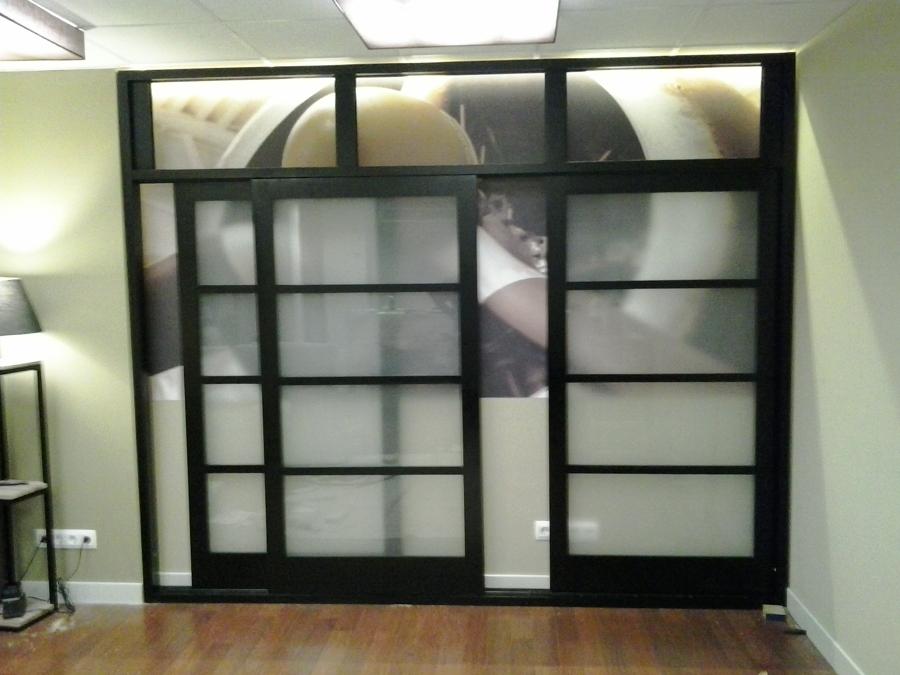 Ventanal de puertas correderas tipo shoji