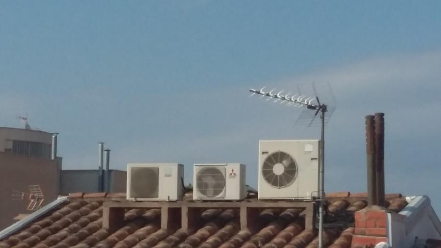 Bancada de obra en tejado