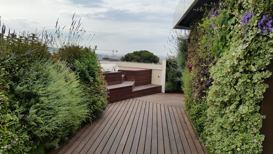 Terraza en madera de Ipe