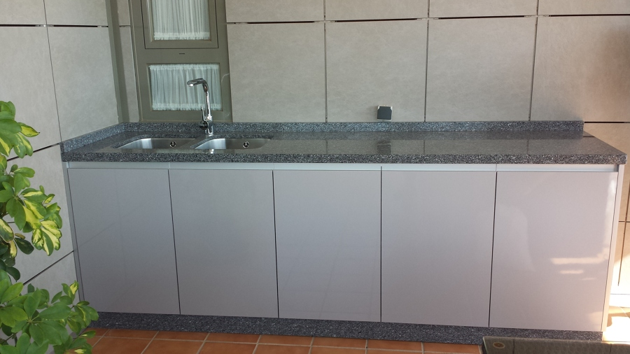 Foto mueble terraza con fregadero de carpinteria mercader - Fregaderos con mueble ...