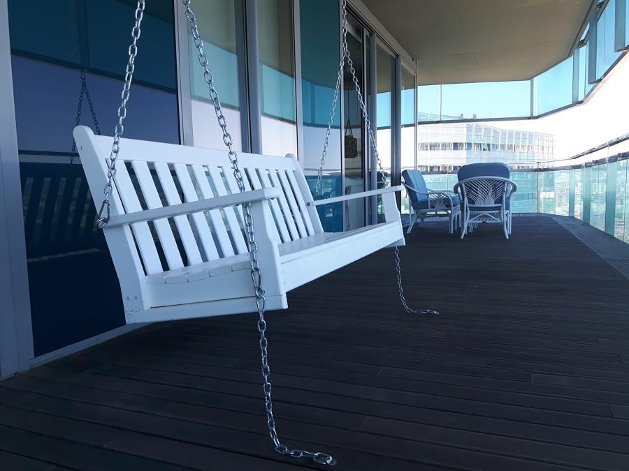 Balancín en terraza