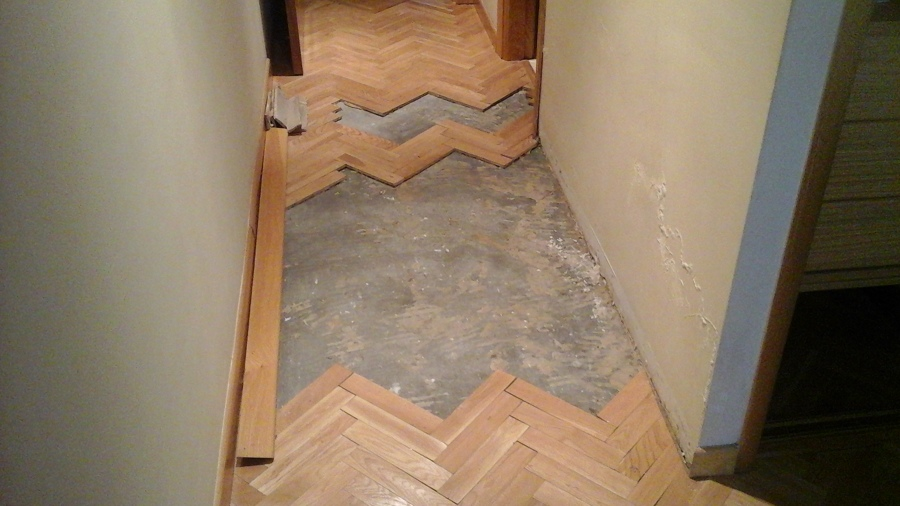reparacion de suelo roble espiga