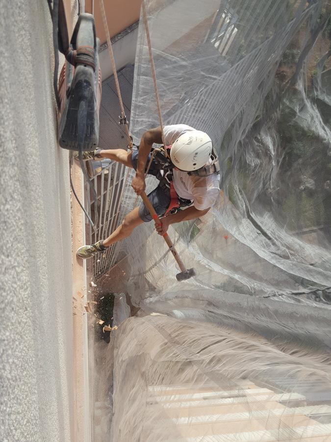 Trabajo vertical construcción