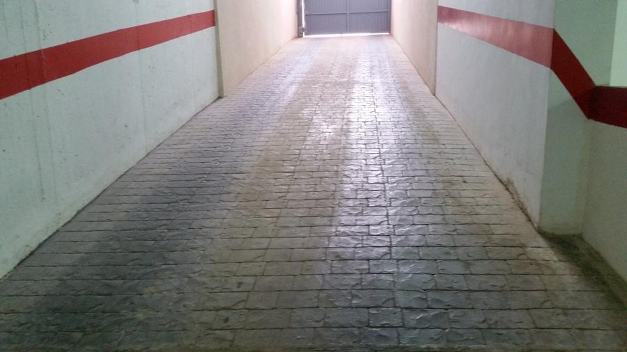 limpieza de rampa  garaje