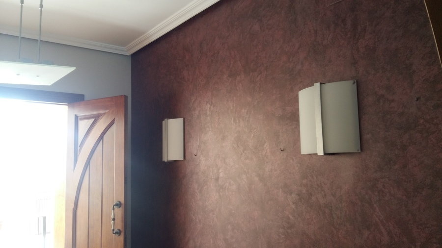 Recibidor pintura decorativa