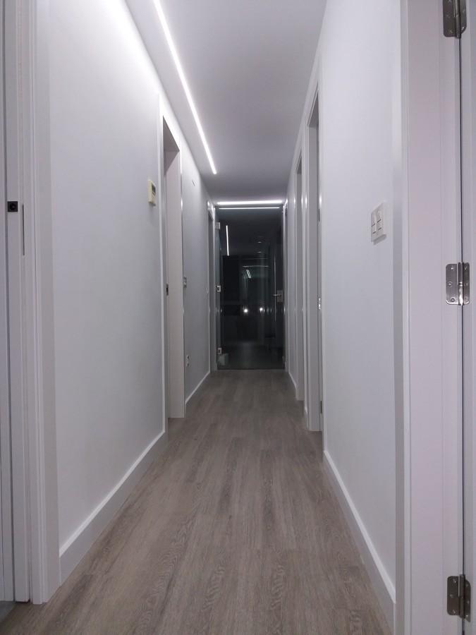 Visión del pasillo reformado