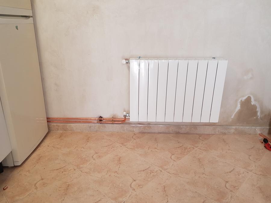 Inst calefaccion con tubo visto de cobre