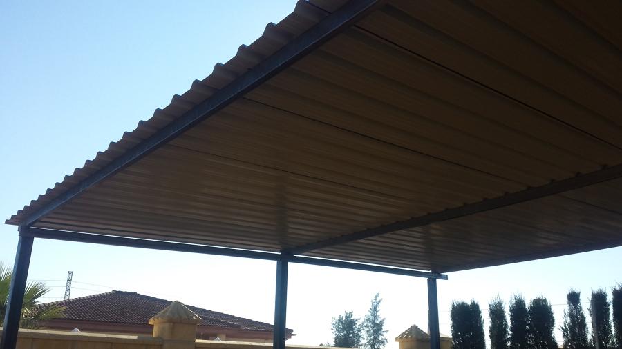 techo de chapa galvanizada trapezoidal