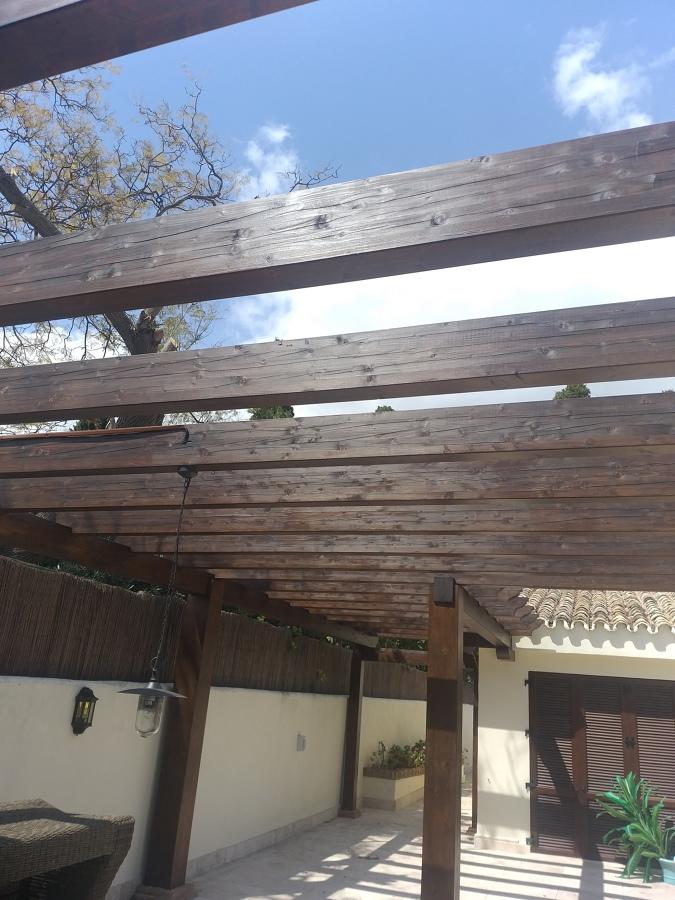 Restauración en vigas de madera