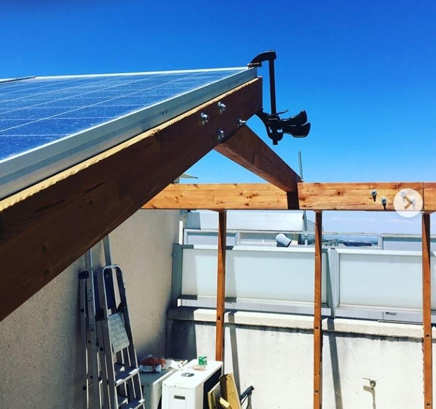 Terrazas con paneles solares