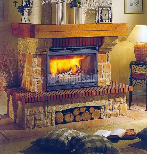 Foto muebles cocina interiorismo reformas viviendas de - Revestimientos de chimeneas rusticas ...