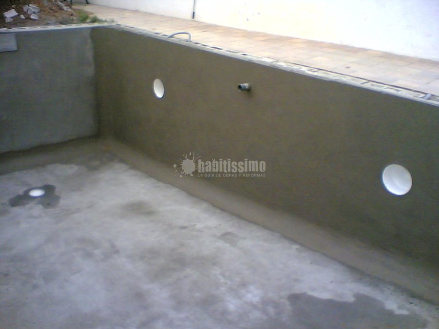 Foto construcci n piscinas sistema hormig n gunitado for Hormigon gunitado piscinas