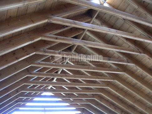 Foto construcci n casas forrado interiorismo muebles medida de carpinteria de madera santa - Carpinteria santa clara ...