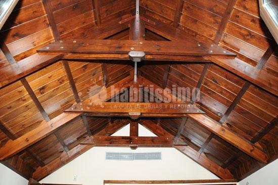 Foto construcci n casas puertas madera techumbres de carpinteria de madera santa clara 12296 - Carpinteria santa clara ...