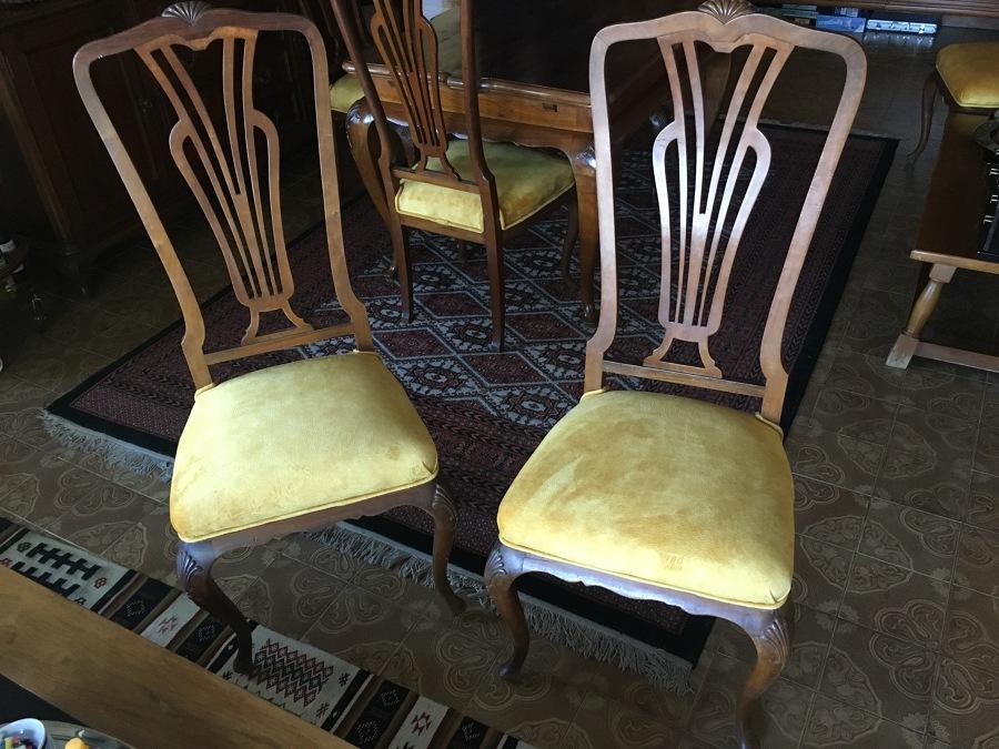 Foto sillas de tapiceria marro y mudanzas 1750029 - Tapiceria de sillas precios ...