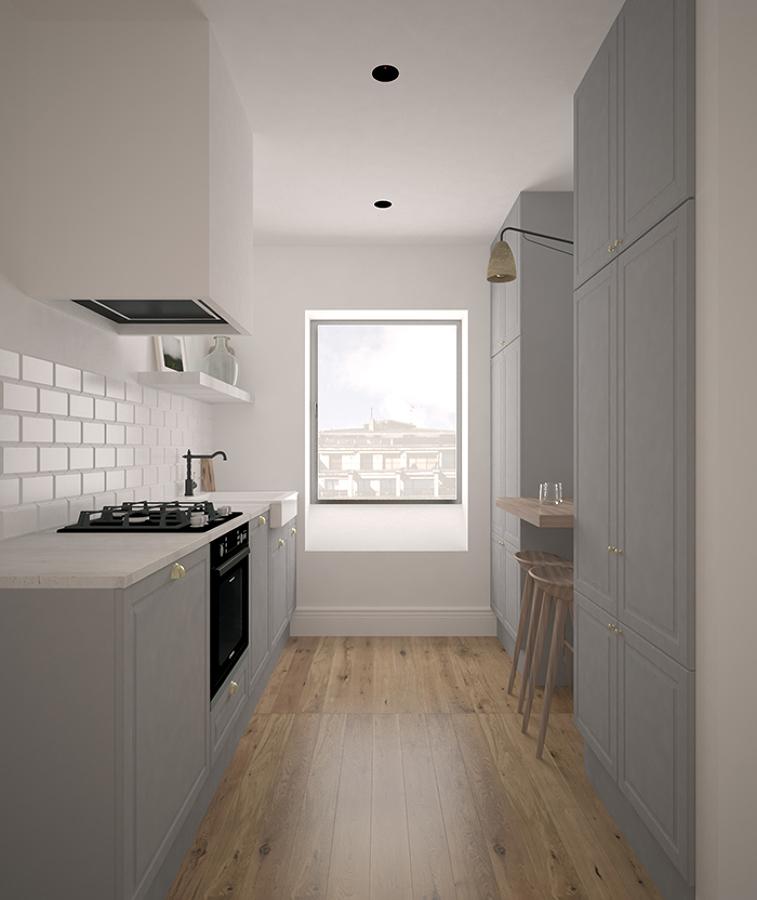 Cocina en apartamento de Lasarte-oria