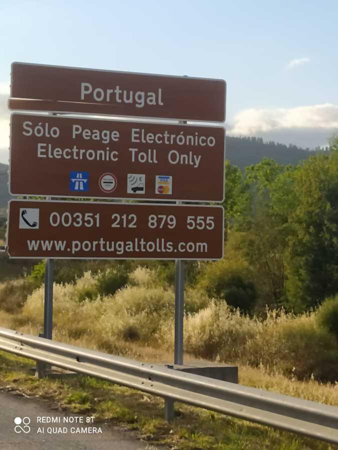 Llegando a Portugal