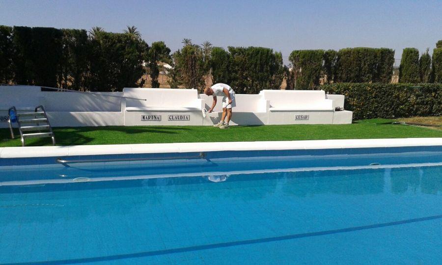 pintura en piscina