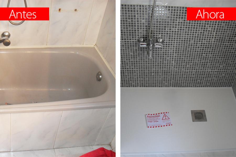 Foto cambiar ba era por plato de ducha antideslizante - Cambiar la banera por plato de ducha ...