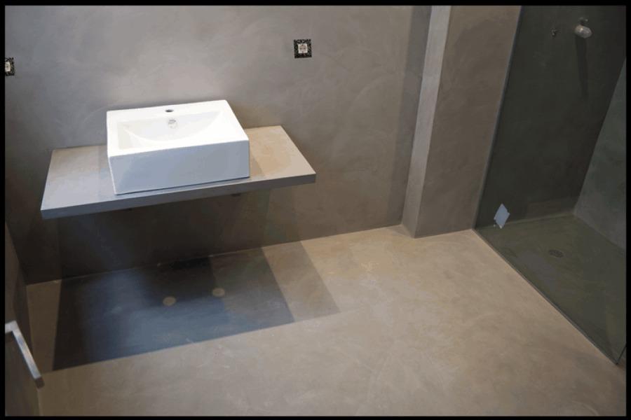 Baño realizado en microcemento