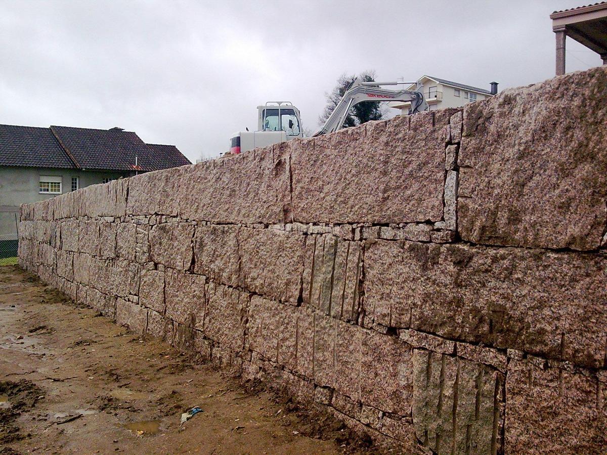 Construcción de muro de contención en Pontevedra