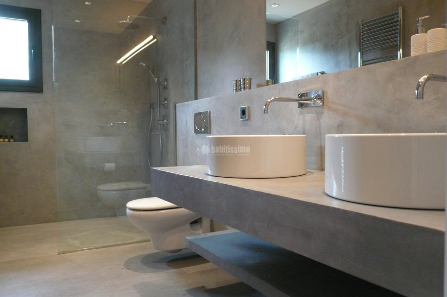 Foto revestimientos microcemento cemento pulido de mineral deco 15344 habitissimo - Integrale badkamer ...