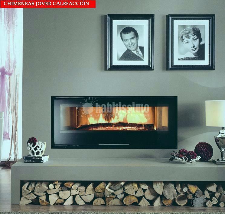 Foto chimeneas decoraci n revestimientos de chimeneas - Revestimiento de chimeneas modernas ...