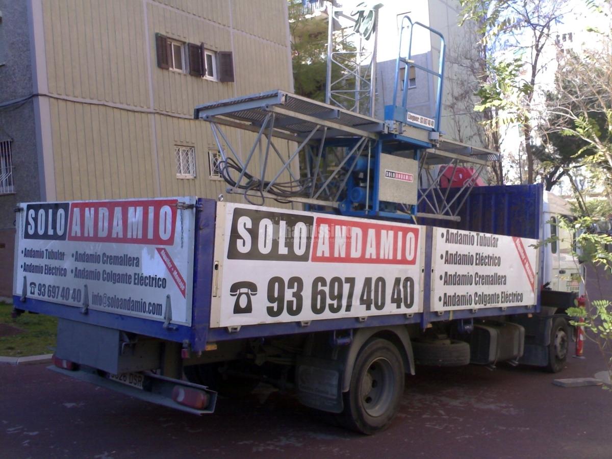Rehabilitación Fachadas, Construcciones Reformas, Andamio Colgante Eléctrico