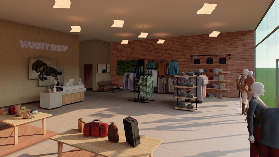 Diseño tienda de ropa Vanity Interior Vista 1