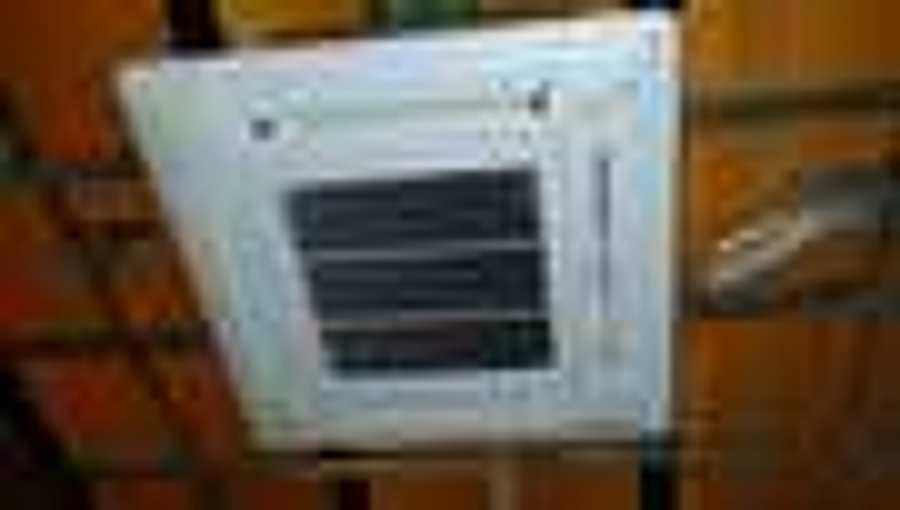 Instalacion equipo aire acondicionado cassette