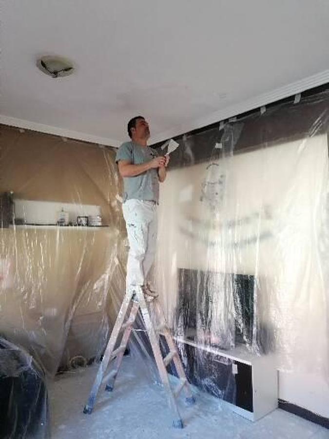 Reparación y pintura de techo