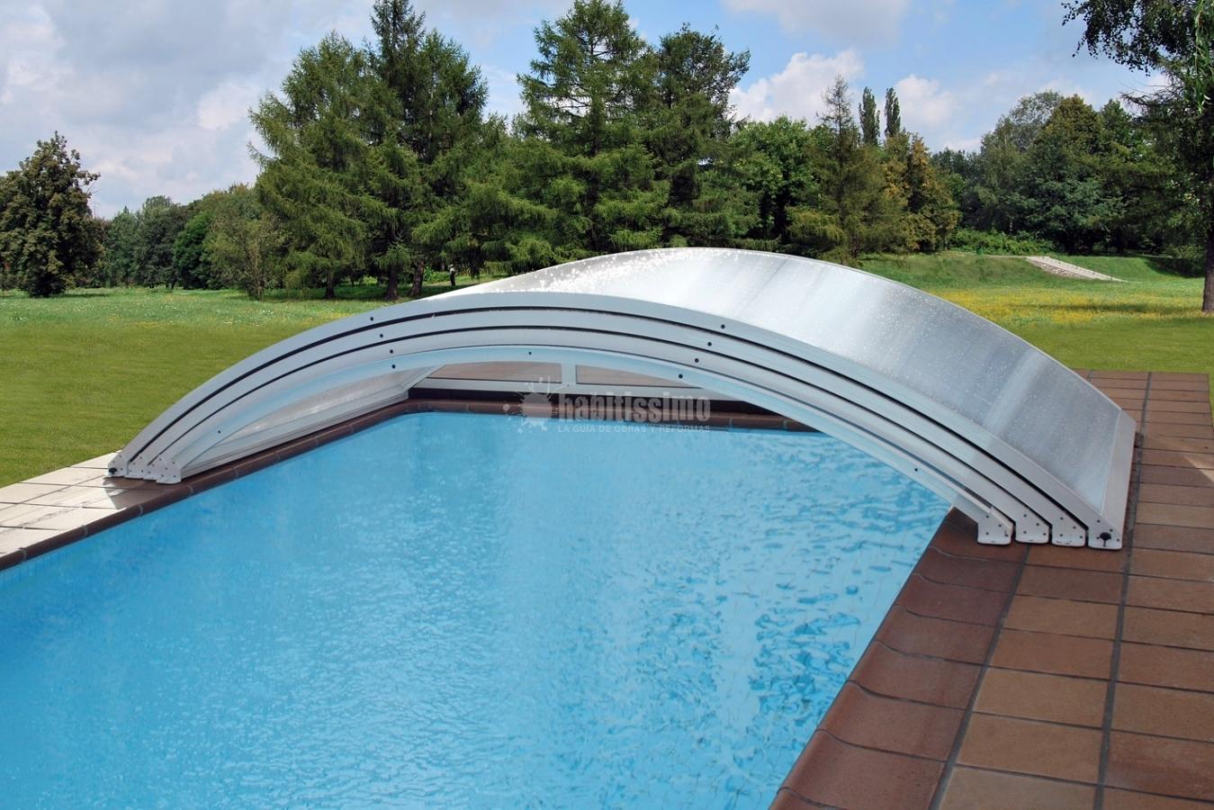 Foto carpinter a aluminio cubiertas piscinas techos for Piscinas cubiertas salamanca