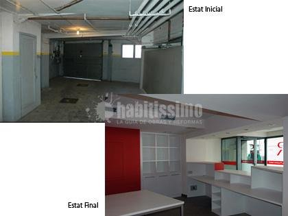 Foto el antes y el despues de unas oficinas de pere le n for Oficinas sabadell sevilla