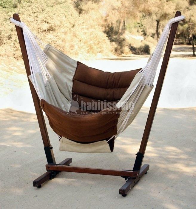 Foto muebles jard n soportes hamacas sillas colgantes for Sillas colgantes para jardin